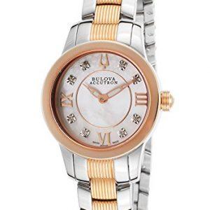 Accutron-Reloj-de-pulsera-mujer-acero-inoxidable-color-plateado-0