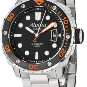 Alpina-AL525LBO4V26B-Reloj-para-hombres-correa-de-acero-inoxidable-color-plateado-0
