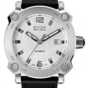 Bulova-Accu-Swiss-63B191-Reloj-correa-de-cuero-color-negro-0