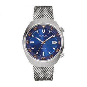 Bulova-Accutron-II-Chaqueta-UHF-Reloj-de-mujer-con-esfera-analgica-Azul-Pantalla-y-Plata-Pulsera-de-acero-inoxidable-96B232-0