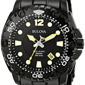 Bulova-Sea-King-eysse-reloj-analgico-de-cuarzo-de-acero-inoxidable-98B242-0