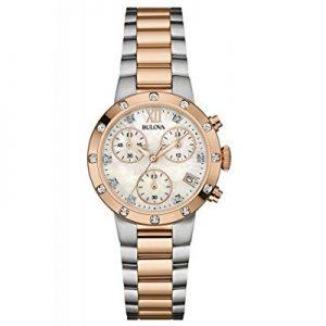 Bulova-reloj-de-pulsera-para-mujer-con-crongrafo-de-acero-inoxidable-bicolour-diamond-98W210-0