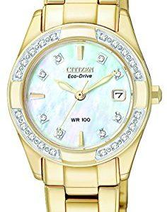 Citizen-EW1822-52D-Reloj-analgico-de-cuarzo-para-mujer-correa-de-acero-inoxidable-color-dorado-0