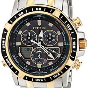 Citizen-JR4054-56E-Reloj-para-hombres-correa-de-acero-inoxidable-0