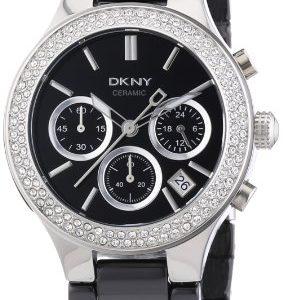 DKNY-Broadway-Chrono-NY4983-Reloj-crongrafo-de-cuarzo-para-mujer-correa-de-cermica-color-negro-cronmetro-0