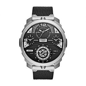 82cb3a0b80ff Diesel Ladies – Reloj de cuarzo con correa de cuero para hombre