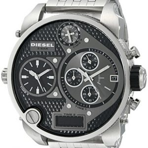 Diesel-Mr-Daddy-Multi-Movement-DZ7221-Reloj-analgico-digital-de-cuarzo-para-hombre-correa-de-acero-inoxidable-color-plateado-cronmetro-0-0