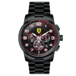Ferrari-0-Reloj-de-cuarzo-para-hombre-con-correa-de-acero-inoxidable-color-negro-0