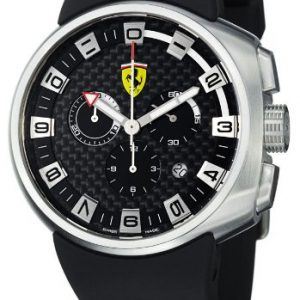 Ferrari-F1-Podium-Reloj-para-hombre-con-crongrafo-dial-de-color-negro-correa-de-goma-de-color-de-fibra-de-carbono-y-negro-0