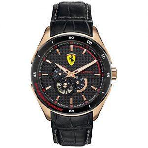 Ferrari-Reloj-Analgico-de-Automtico-para-Hombre-correa-de-Cuero-color-Negro-0