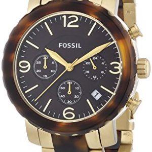 Fossil-Natalie-Bicolor-JR1382-Reloj-crongrafo-de-cuarzo-para-mujer-correa-de-diversos-materiales-multicolor-cronmetro-0