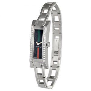 Gucci-110-G-YA110513-Reloj-analgico-de-cuarzo-para-mujer-correa-de-acero-inoxidable-color-plateado-0