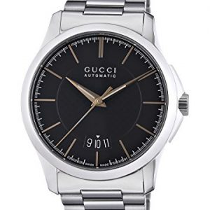 bd48ed5e1 Gucci G TIMELESS – Reloj automático para hombre, correa de acero inoxidable  color plateado