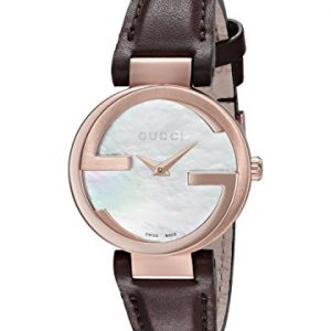 Gucci-INTERLOCKING-Reloj-de-pulsera-analgico-para-mujer-cuarzo-piel-ya133516-0
