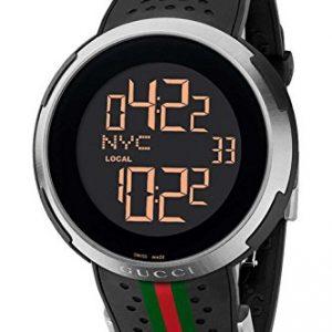 18fda6f4fa Gucci YA114103 – Reloj digital de hombre (correa de goma), color negro