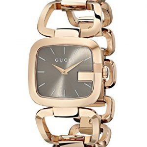 Gucci-YA125408-Reloj-de-cuarzo-para-mujer-con-correa-de-acero-inoxidable-chapado-color-dorado-0