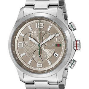Gucci-YA126248-Reloj-de-cuarzo-para-hombre-con-correa-de-acero-inoxidable-color-plateado-0