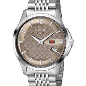 Gucci-YA126310-Reloj-de-cuarzo-para-hombre-con-correa-de-acero-inoxidable-color-plateado-0