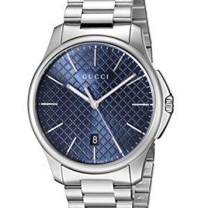 Gucci-YA126316-Reloj-para-hombre-con-correa-de-acero-inoxidable-de-color-azul-0