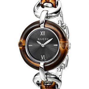 Gucci-YA132401-Reloj-de-cuarzo-para-mujer-con-correa-de-acero-inoxidable-color-plateado-0