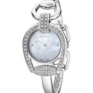 Gucci-YA139505-Reloj-de-cuarzo-para-mujer-con-correa-de-acero-inoxidable-color-plateado-0