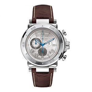 Guess-Reloj-de-pulsera-hombre-piel-color-marrn-0