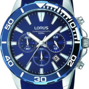 Lorus-Reloj-de-pulsera-hombre-silicona-color-azul-0