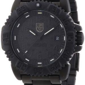 Luminox-3152BO-Reloj-analgico-de-cuarzo-para-hombre-con-correa-de-caucho-color-negro-0