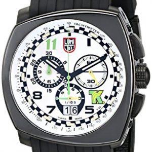 Luminox-Hombre-1147-Tony-Kanaan-Edition-Analog-Display-reloj-negro-de-cuarzo-analgico-0