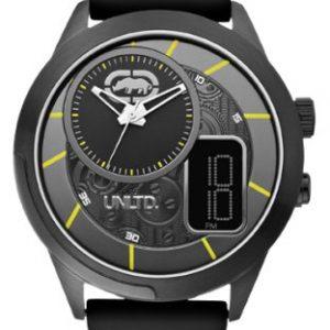 Marc-Ecko-E14545G2-Reloj-analgico-y-digital-de-cuarzo-para-hombre-con-correa-de-silicona-color-negro-0