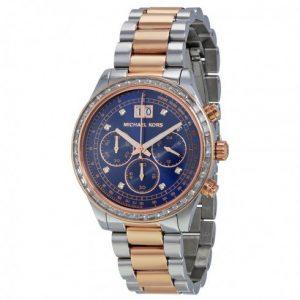 Michael-Kors-MK6205-Reloj-con-correa-de-acero-para-mujer-color-azul-gris-0