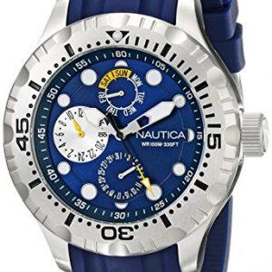 Nautica-Multi-N15105G-de-estacin-de-trabajo-100-de-los-hombres-de-la-animacin-japonesa-de-cuarzo-reloj-de-pulsera-0