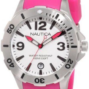 Nautica-N11552M-Reloj-para-mujeres-correa-de-resina-color-rosa-0