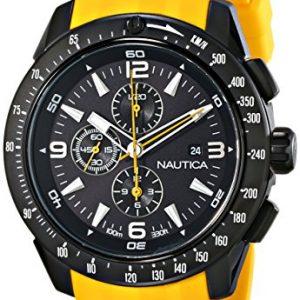 Nautica-N18599G-Reloj-para-hombres-correa-de-resina-color-amarillo-0