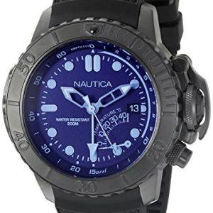 Nautica-Reloj-de-buceo-con-nad52500g-NMX-estilo-cristal-azul-analgico-de-cuarzo-negro-para-hombre-0
