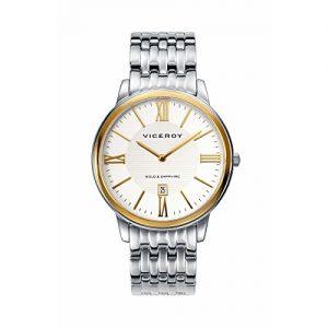 Reloj-Viceroy-de-Hombre-Brazalete-de-acero-Esfera-redonda-de-color-blanco-0