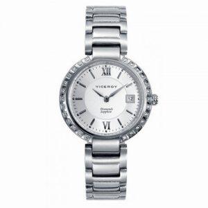 Reloj-Viceroy-de-Mujer-Brazalete-de-acero-Esfera-redonda-de-color-blanco-0