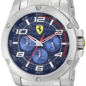 Scuderia-Ferrari-830036-Reloj-para-hombres-correa-de-acero-inoxidable-color-plateado-0