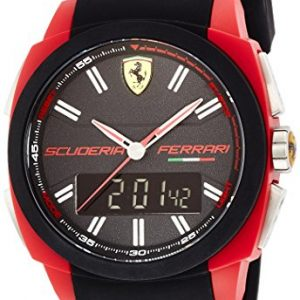 Scuderia-Ferrari-Aerodinamico-Reloj-de-cuarzo-para-hombre-con-correa-de-goma-color-negro-0