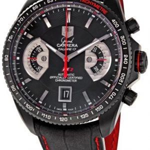 TAG-Heuer-Reloj-de-pulsera-hombre-piel-color-negro-0