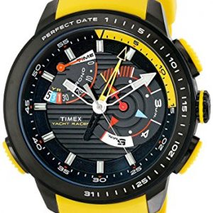 Timex-Hombre-tw2p44500dh-inteligente-cuarzo-Yacht-Racer-Reloj-con-Banda-de-silicona-de-color-amarillo-0