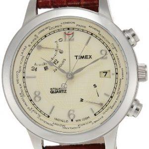 Timex-T2N611-Reloj-para-hombres-correa-de-cuero-color-marrn-0
