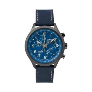 Timex-T2P380-Reloj-para-hombres-correa-de-cuero-color-azul-0