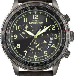 Timex-T49895D7-Reloj-crongrafo-de-cuarzo-para-hombre-con-correa-de-piel-color-marrn-0