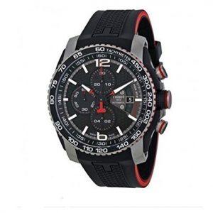 Tissot-PRS-516-Negro-Dial-Crongrafo-Negro-Goma-Hombres-Reloj-De-Cuarzo-0