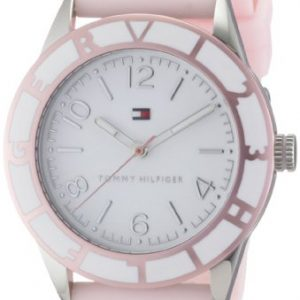Tommy-Hilfiger-1781185-Reloj-analgico-de-cuarzo-para-mujer-con-correa-de-silicona-color-rosa-0