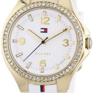 Tommy-Hilfiger-1781372-Reloj-de-cuarzo-para-mujer-correa-de-silicona-color-blanco-0
