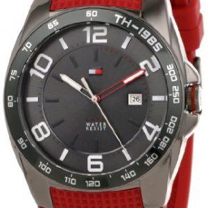Tommy-Hilfiger-1790886-Reloj-para-hombres-correa-de-goma-color-rojo-0