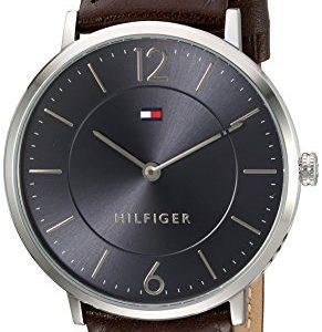 Tommy-Hilfiger-hombres-de-sofisticado-Sport-de-cuarzo-reloj-automtico-de-acero-inoxidable-y-cuero-color-marrn-modelo-1710352-0